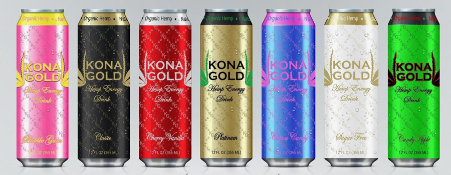 Kona Gold Hemp Energy Drinks